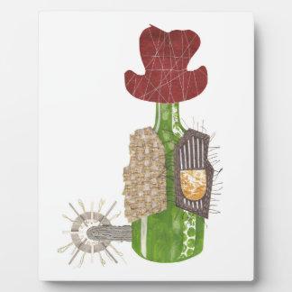Bottle Cowboy Easel Plaque