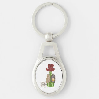 Bottle Cowboy Metal Keyring