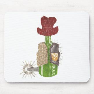 Bottle Cowboy Mousepad