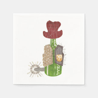 Bottle Cowboy Napkins Paper Serviettes