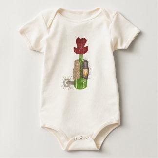 Bottle Cowboy Organic Babygro Baby Bodysuit
