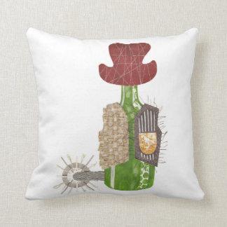 Bottle Cowboy Pillow