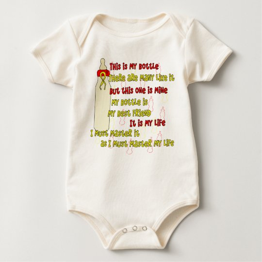 Bottle Creed Red n Yellow Baby Bodysuit