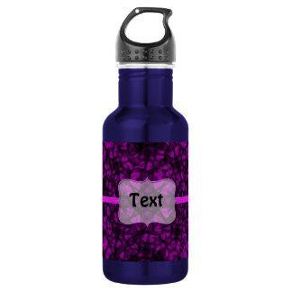 Bottle fractal art black and pink