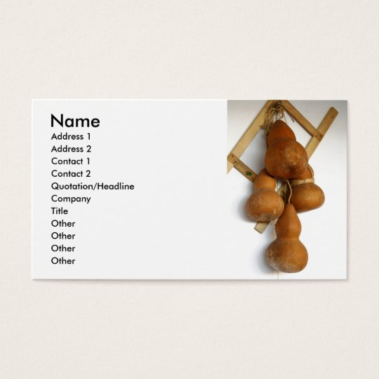 Bottle gourds business card