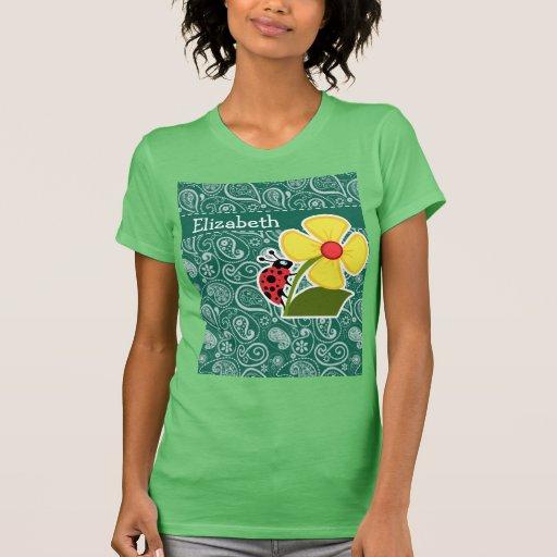 Bottle Green Paisley; Ladybug Tees