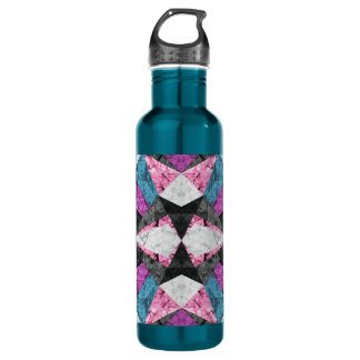 Bottle Marble Geometric Background G438 710 Ml Water Bottle