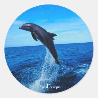 Bottle nose dolphin round sticker