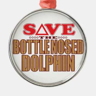 Bottle Nosed Dolphin Save Christmas Ornament