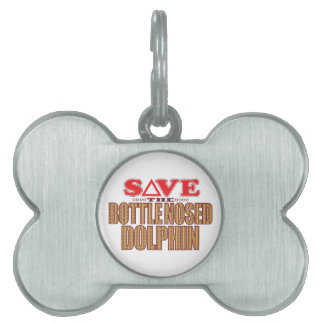 Bottle Nosed Dolphin Save Pet Name Tag