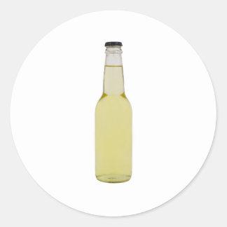 Bottle of beer round sticker