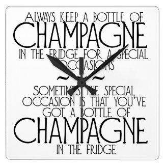 Bottle Of Champagne In The Fridge Phrase Clock