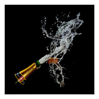 Bottle of Champagne Poster Print