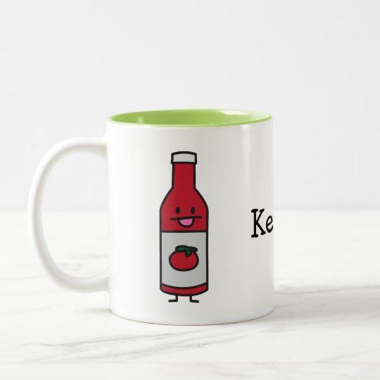 Bottle of Ketchup Two-Tone Coffee Mug