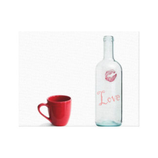 bottle of love canvas print