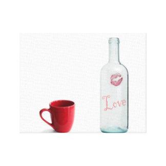 bottle of love canvas prints