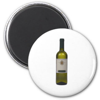 Bottle of quality wine with blank label magnet