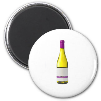 Bottle of quality wine with blank label refrigerator magnets
