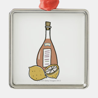 Bottle of Red Wine Christmas Ornament