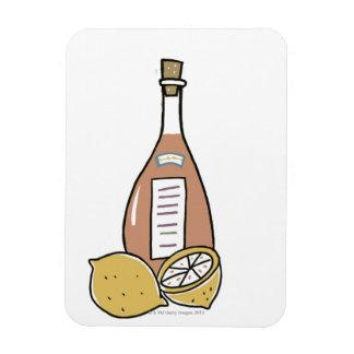 Bottle of Red Wine Flexible Magnet