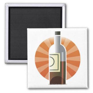 Bottle of Wine Fridge Magnet