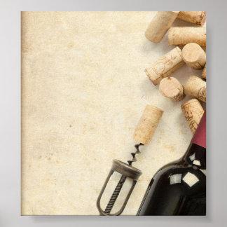 Bottle of Wine Poster