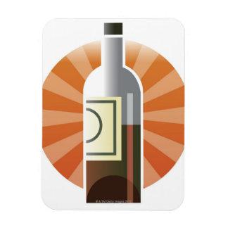 Bottle of Wine Rectangular Magnet