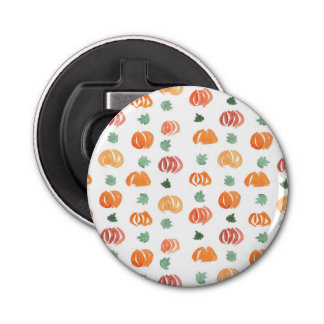 Bottle opener with pumpkins and leaves