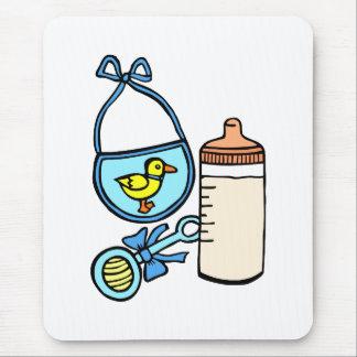 bottle rattle bib - blue mouse pad