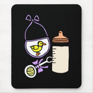 bottle rattle bib lavender mouse pad