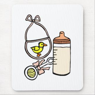 bottle rattle bib peach mouse pad