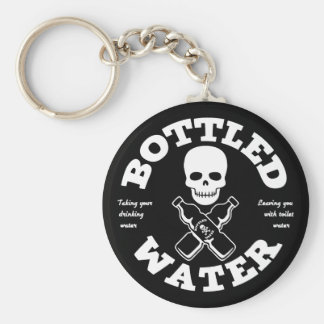 Bottled Water Basic Round Button Key Ring