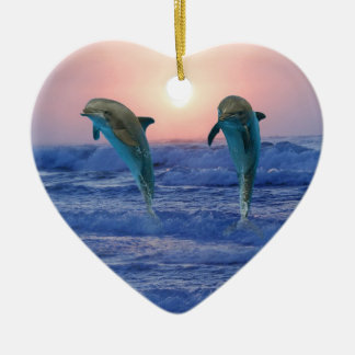 Bottlenose Dolphin at Sunrise Christmas Ornament