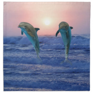 Bottlenose Dolphin at Sunrise Napkin