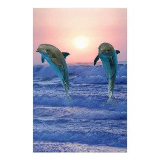 Bottlenose Dolphin at Sunrise Stationery
