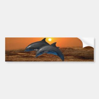 Bottlenose Dolphin at Sunset Bumper Sticker