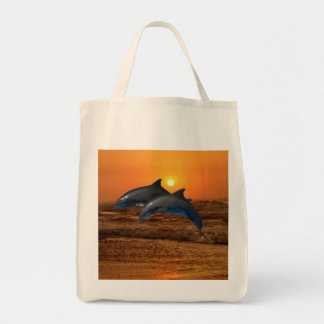 Bottlenose Dolphin at Sunset Tote Bag
