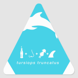 bottlenose dolphin blue hex.png triangle sticker