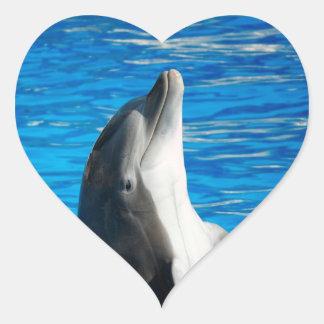 Bottlenose Dolphin Heart Sticker