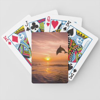 Bottlenose Dolphin jumping 2 Bicycle Playing Cards