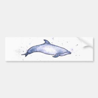 Bottlenose dolphin sea illustration bumper sticker