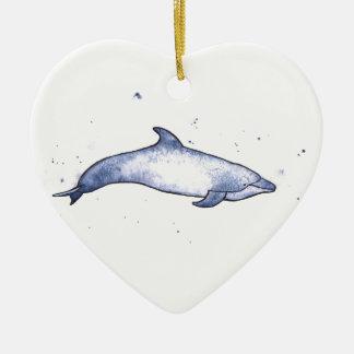 Bottlenose dolphin sea illustration christmas ornament