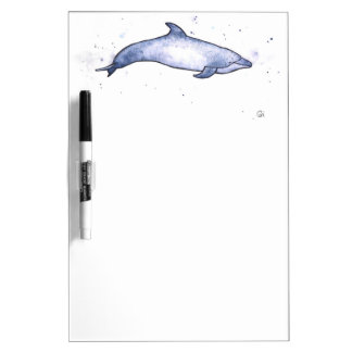 Bottlenose dolphin sea illustration dry erase white board