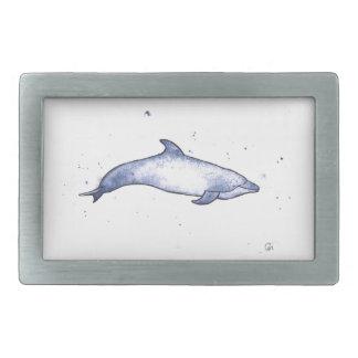 Bottlenose dolphin sea illustration rectangular belt buckle