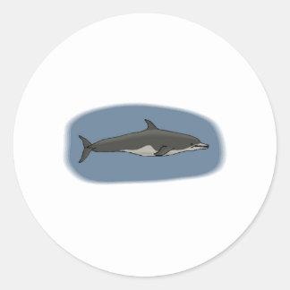 Bottlenose Dolphin Round Stickers
