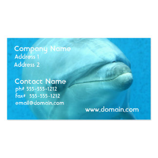 Bottlenose Dolphin Underwater Business Cards