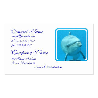 Bottlenose Dolphin Underwater Pack Of Standard Business Cards