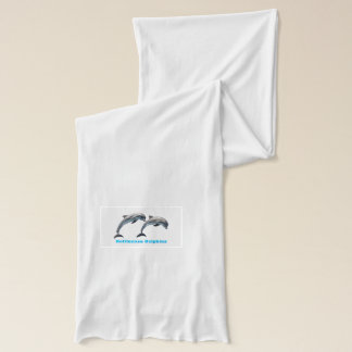 Bottlenose Dolphins for White Jersey Scarf