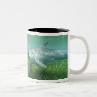 Bottlenose Dolphins Tursiops truncatus) 24 Two-Tone Coffee Mug