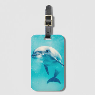 Bottlenosed Dolphin Underwater Luggage Tag